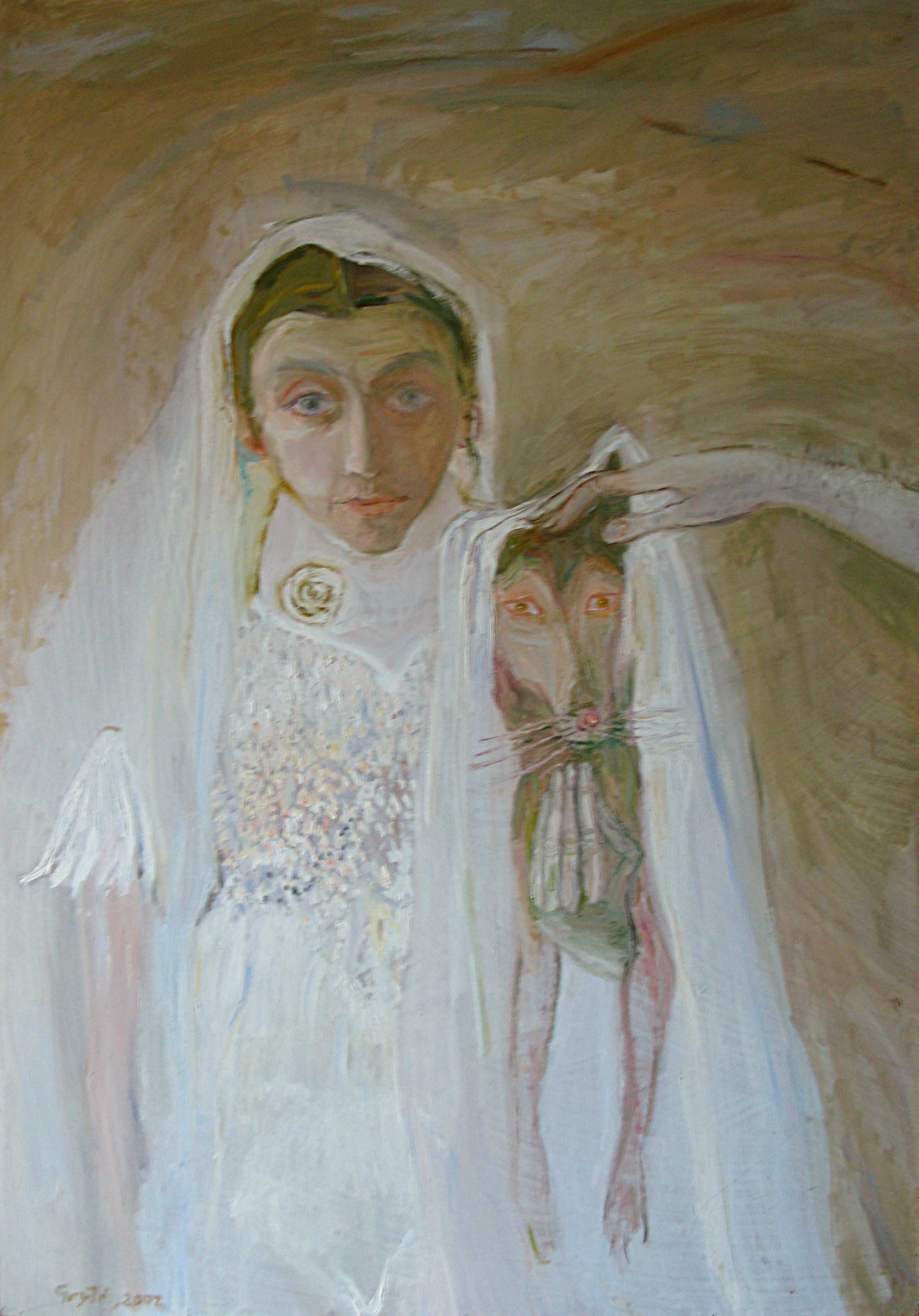 The bride with dog